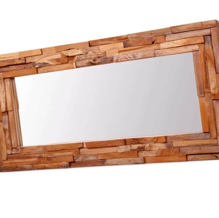espejo decorativo rústico