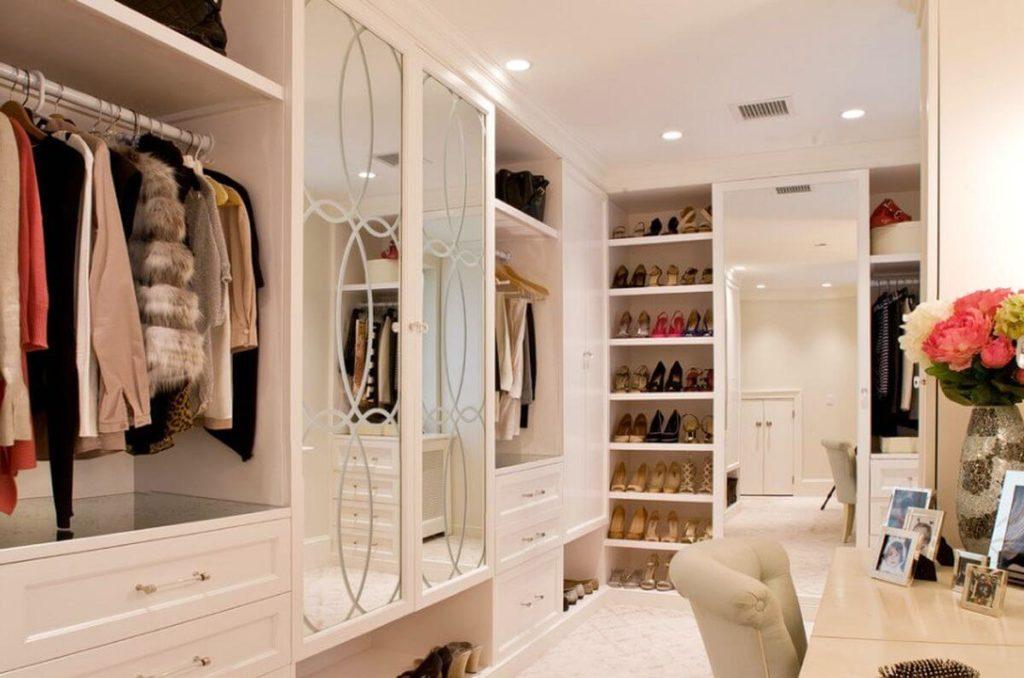 espejo pared vestidor