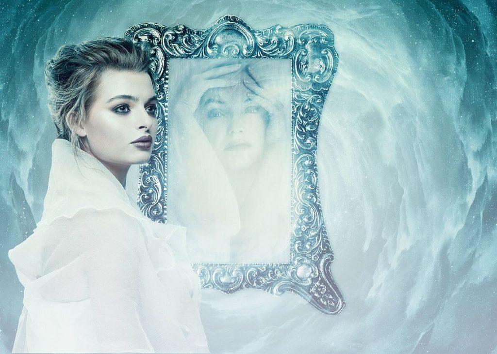 espejo reflejo de pensamientos