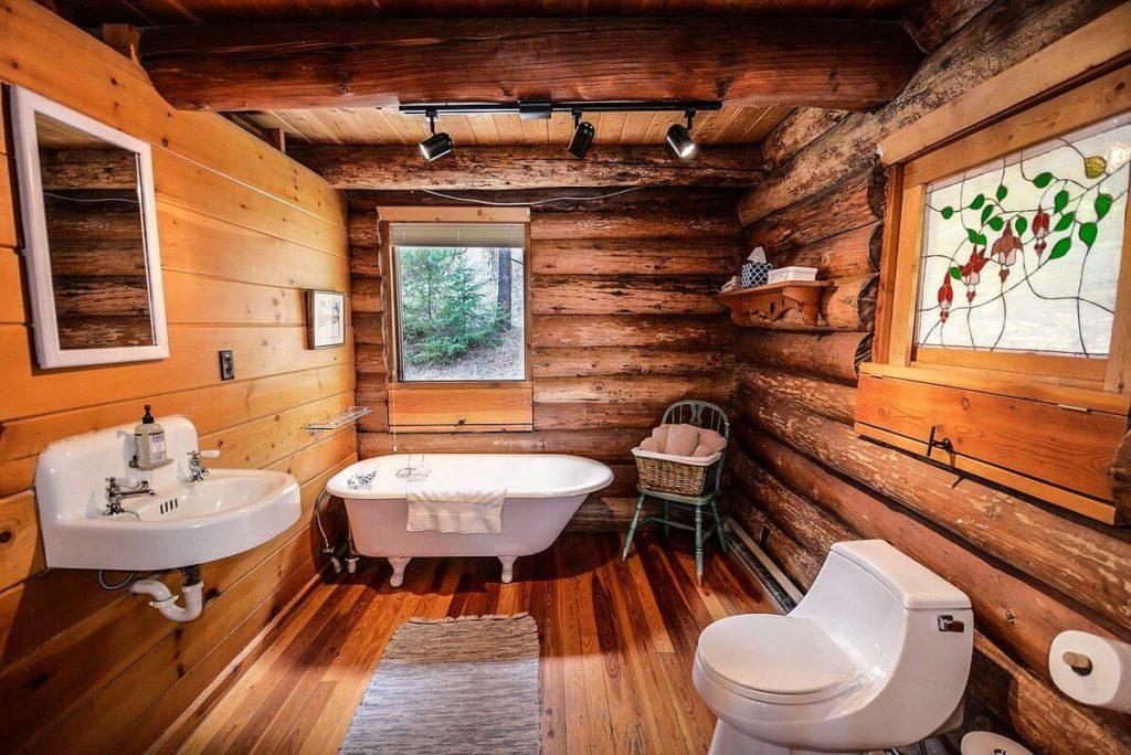 espejos baños rusticos