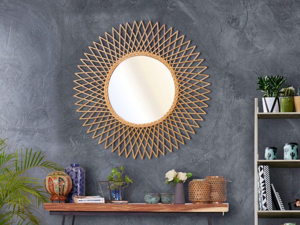 espejos redondos forma sol