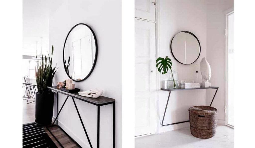 espejos redondos recibidor