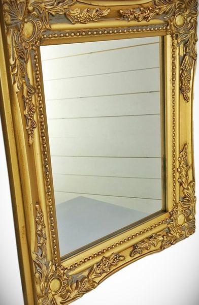espejo antiguo dorado de madera precio