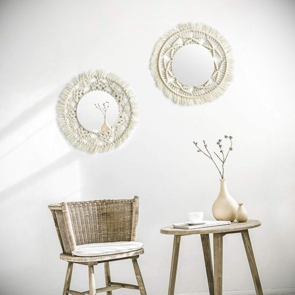 espejos decorados a mano